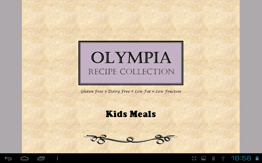 Kids Meals Free Recipes Book