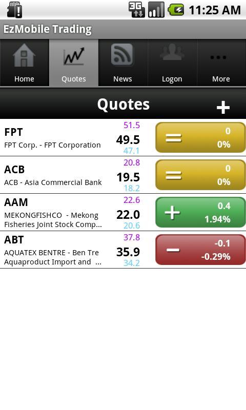 FPTS EzMobileTrading - screenshot