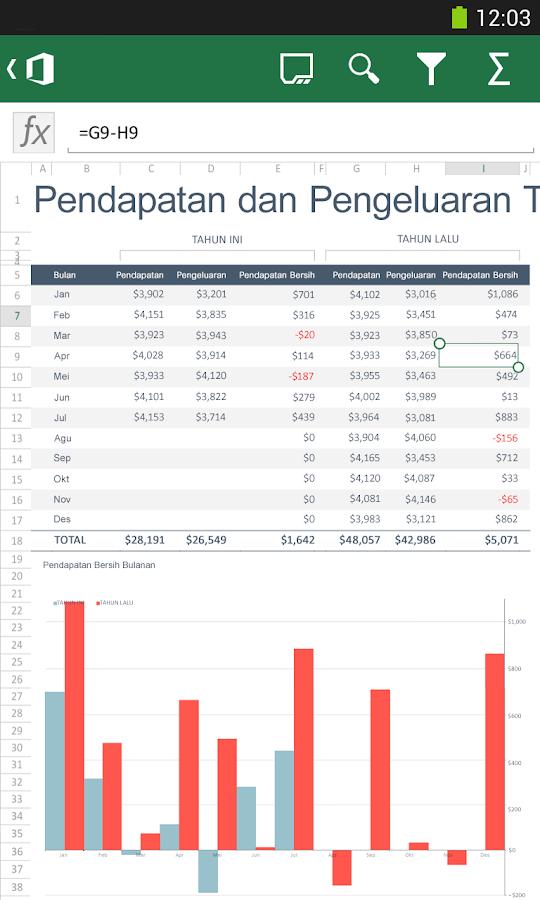 Microsoft Office Mobile- tangkapan layar