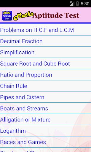 Maths Aptitude Test
