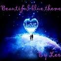 Go Launcher EX blue theme Leo icon