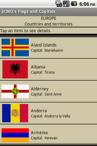 JCMO's Flags and Capitals - screenshot