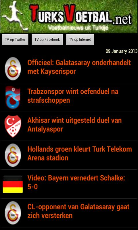 Turksvoetbal.net - screenshot
