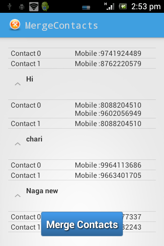 Duplicate Contacts Remover - screenshot
