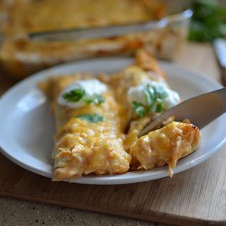 Creamy Chicken Enchiladas.