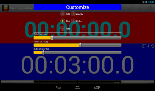 Multi Stopwatch & Timer  free screenshot 17