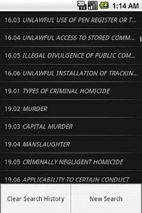 TXLaw - Penal Code - Criminal- screenshot thumbnail
