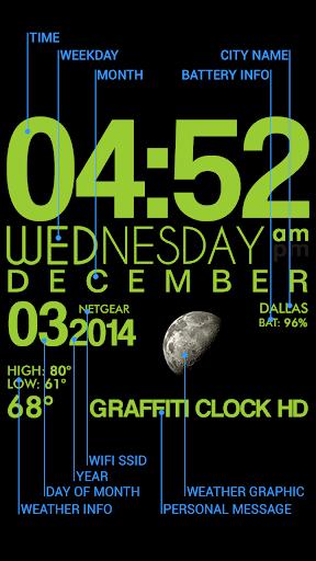 GRAFFITI CLOCK HD PRO