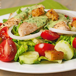 Garden Chicken Salad with Buttermilk-Herb Dressing
