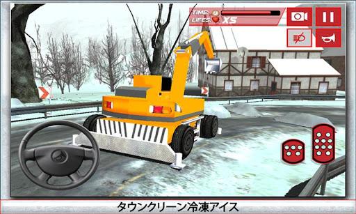 冬の除雪トラック運転手