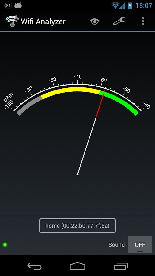 Wifi Analyzer – zrzut ekranu