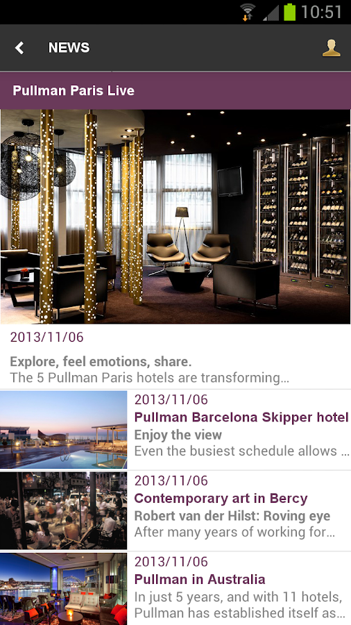 Pullman Hotels & Resorts - screenshot