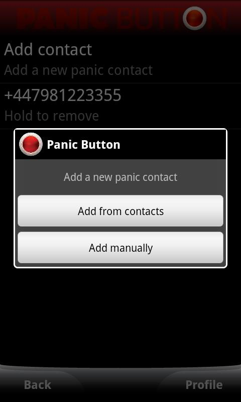 Red Panic Button - screenshot
