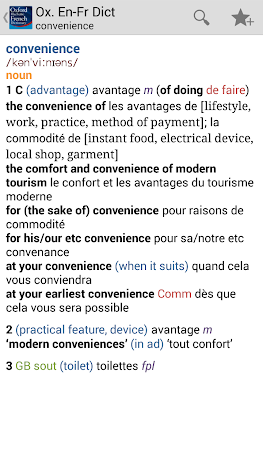 Oxford French Dictionary TR 4.3.136 screenshot 75250