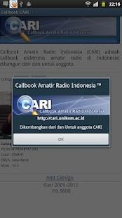 Callbook Cari- screenshot thumbnail