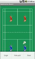 Screenshot of Badminton Tactics Board