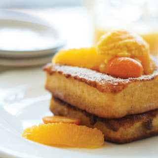 Grand Marnier French Toast With Orange-Cardamom Butter.