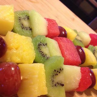 Frozen Fruit Skewers.