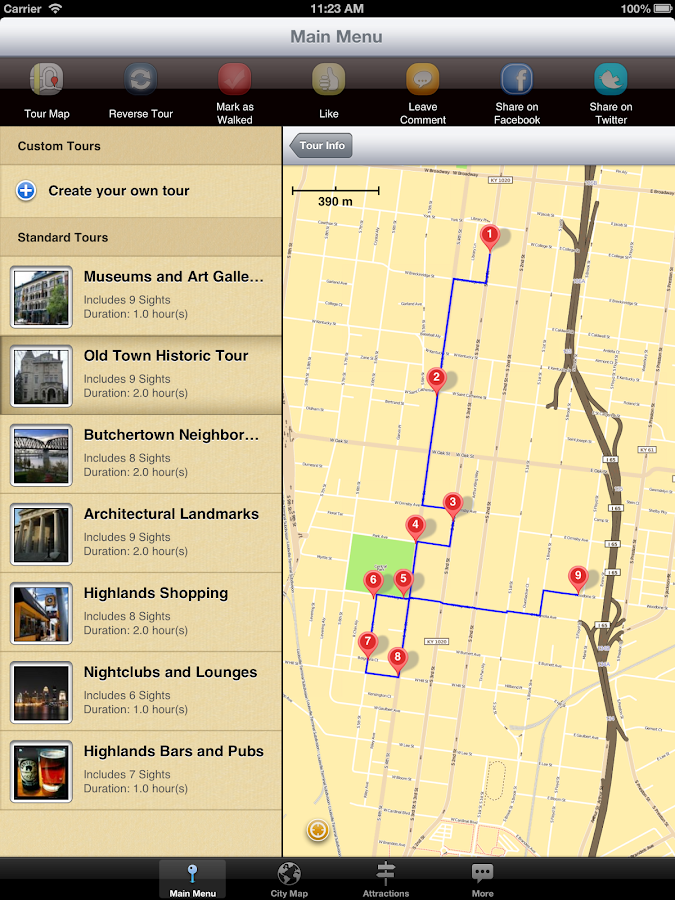 Louisville Map and Walks - screenshot