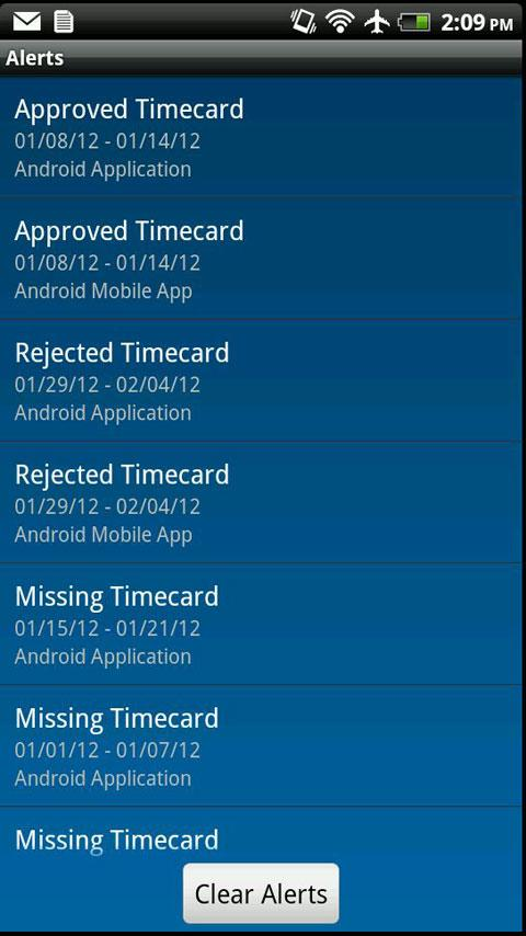 IQNavigator Timecards- screenshot