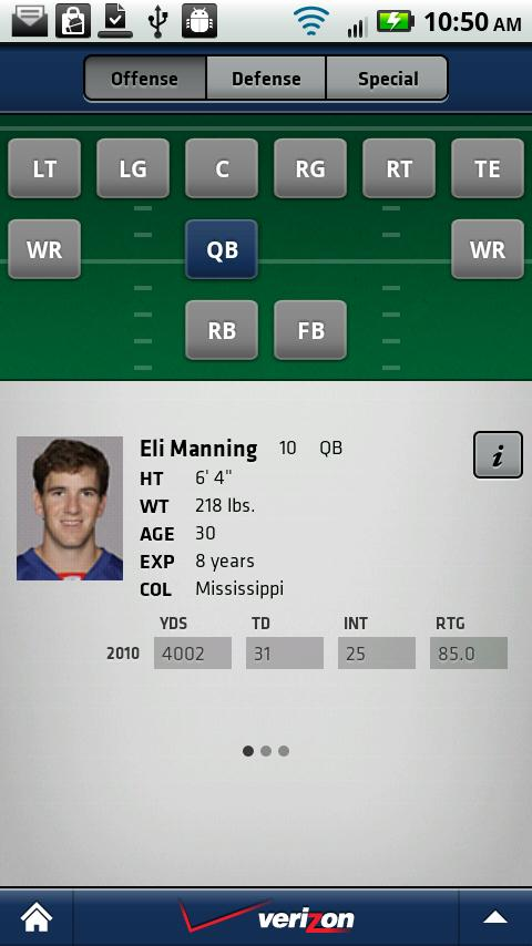 New York Giants Mobile - screenshot