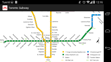 Screenshot of Toronto Subway (offline)