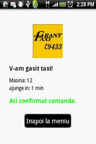 Grant Taxi Bucharest- screenshot