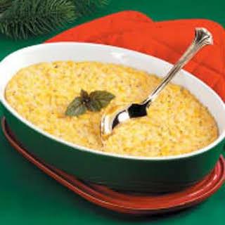 Baked Corn Pudding.