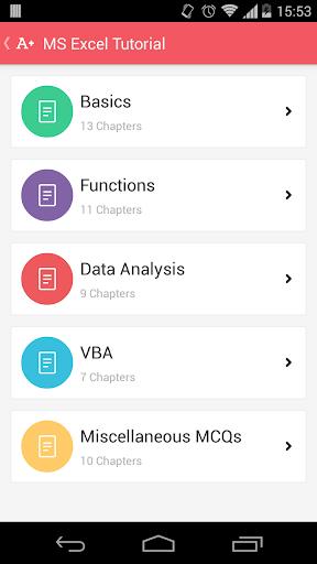 MS Excel Tutorial