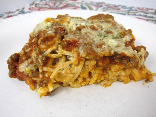 Baked Cream Cheese Spaghetti Casserole Recipe
