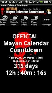 Mayan Calendar Countdown