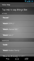 Screenshot of XFINITY TV X1 Remote