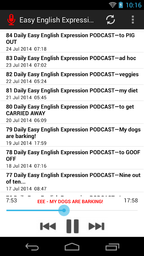 Let's Master English Podcast- screenshot