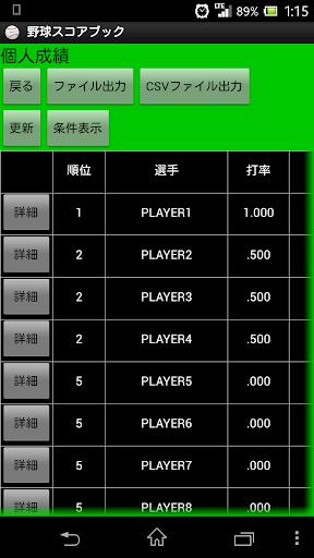 野球スコアブック BaseBall Score Book
