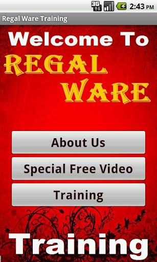 Regal Ware Training