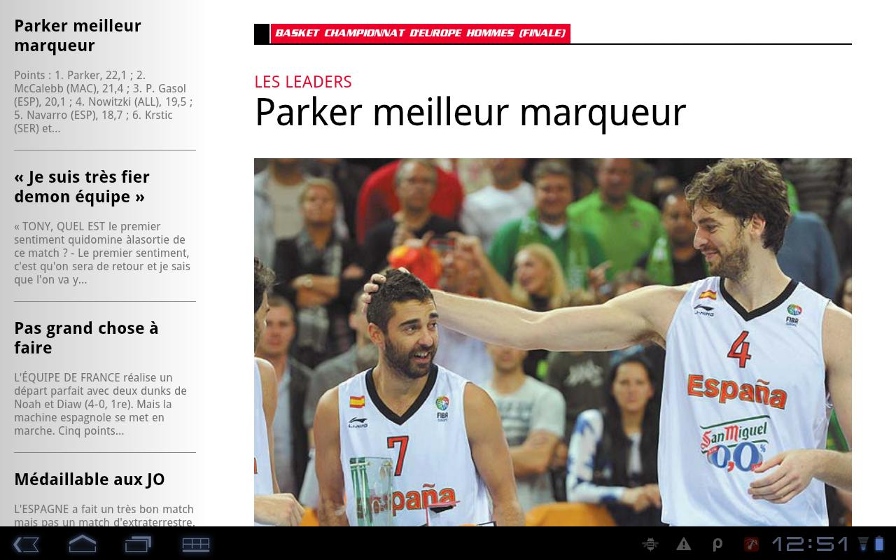 L'Equipe - Le Quotidien - screenshot