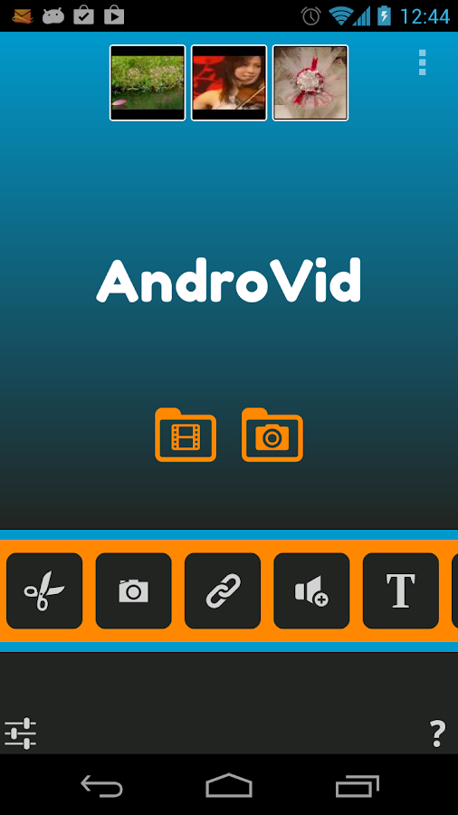 AndroVid Pro Video Editor - screenshot