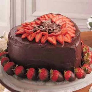 Victorian Strawberry Chocolate Cake.