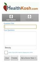 Screenshot of HealthKosh Application for Mob