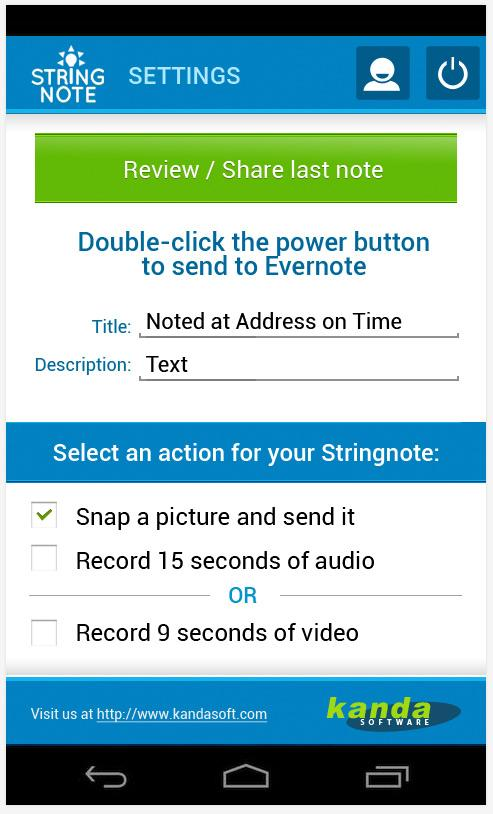Stringnote MyIdeas in Evernote- screenshot