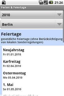 Ferien & Feiertage - screenshot thumbnail