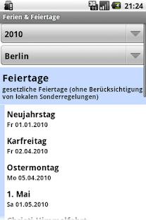 Ferien & Feiertage- screenshot thumbnail