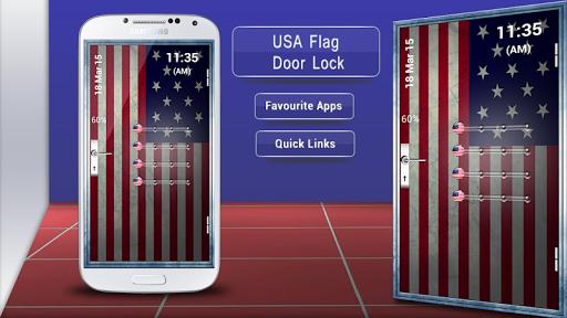 USA Flag Door Lock