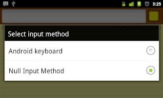 Screenshot of Null Input Method