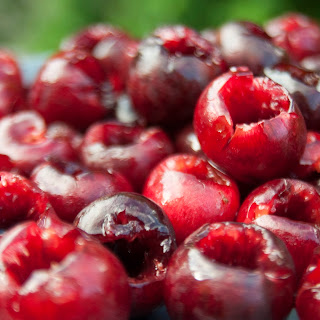 Cherry Amaretto Clafouti Tart with Almond Praline