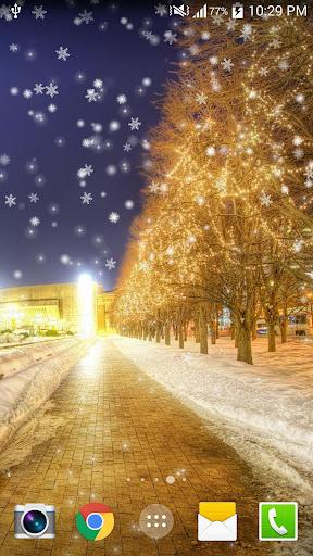 雪の夜のライブ壁紙HD