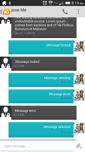 Evolve SMS Theme - Cyan