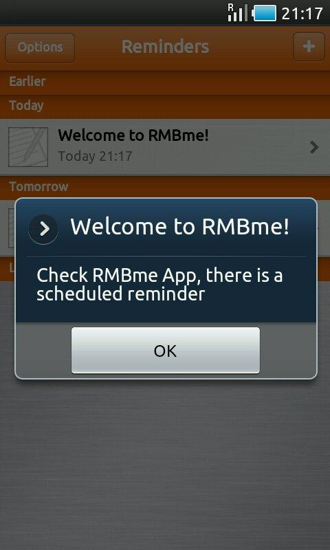 RMBme- screenshot