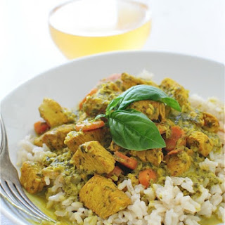 Coconut Basil Chicken with Brown Rice