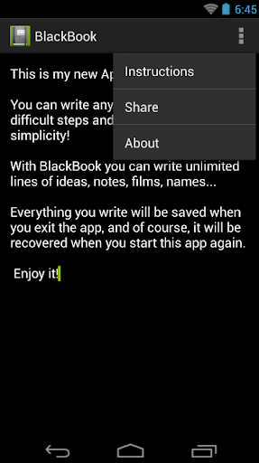 Black Book - Simple Notebook